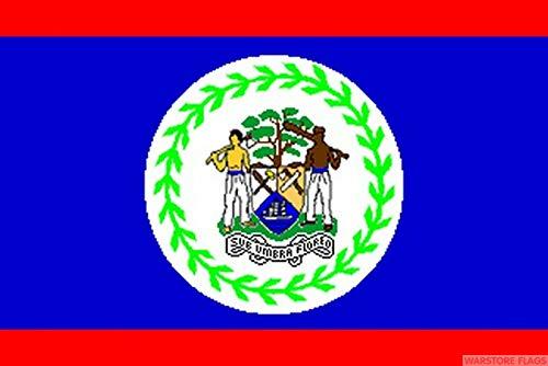 FlagSuperstore© Belize Bootsflagge 45 x 30 cm – Baumhäuser, Wohnwagen – Ärmel 45 cm x 30 cm – Country