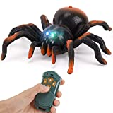 RC Moving Tarantula Spider - Kids Wireless Remote Control Toy, Great for Pranks and Halloween Decorations, Realistic Scurrying Movement, Glowing LED Eyes