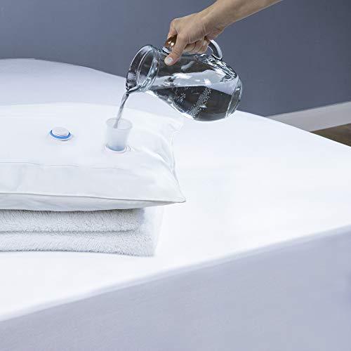 Adam Home Premium Wasserkissen, reduziert Nackenschmerzen und verbessert den Schlaf, 100{293cf859561b5ecf92eed13130d50be11f530ad5d6fb3f4e0de30b5b5fe7713f} Baumwolle, Weiß, 100{293cf859561b5ecf92eed13130d50be11f530ad5d6fb3f4e0de30b5b5fe7713f} Baumwolle, 50x75cm
