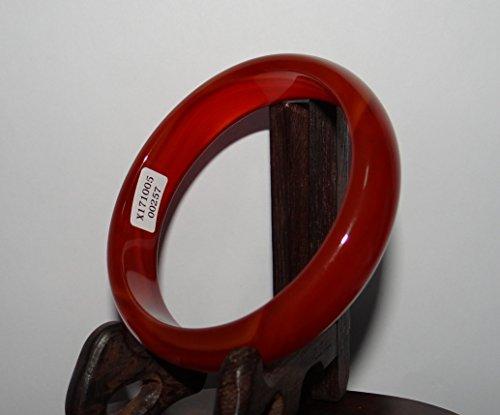 JL 6,6 cm Chine Certifié Nature Rouge Calcédoine Bracelets de Jade Bracelet pour Femme