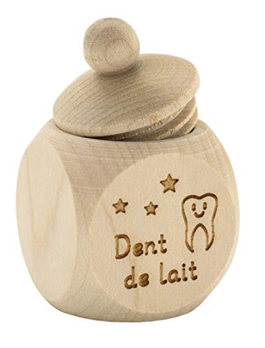 Spruchreif PREMIUM QUALITÄT 100% EMOTIONAL · Milchzahndose aus Holz mit Schraubdeckel und Gravur · Kinder Zahndose für Milchzähne zur Aufbewahrung · Geschenk für Kinder · Zahnfee
