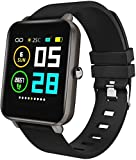 Zagzog Smart Watch Square Multifunction for Men Women, Compatible for Android iOS Phones, IP68 Waterproof, Step Counter, All-Day Activity Tracking, 1.54' Large Screen, Ultra-Long Battery Life