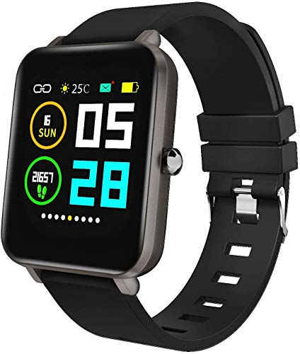 Zagzog Smart Watch Square Multifunction for Men Women, Compatible for...