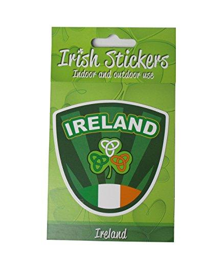 McLaughlin's Irish Shop Irland Aufkleber Fahne und Kleeblatt und Knotenmuster