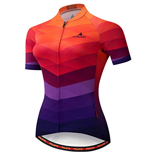Cycling Jersey Women Aogda Bike Shirts Team Bicycle Jacket Biking Tights Clothing (05A, Medium)