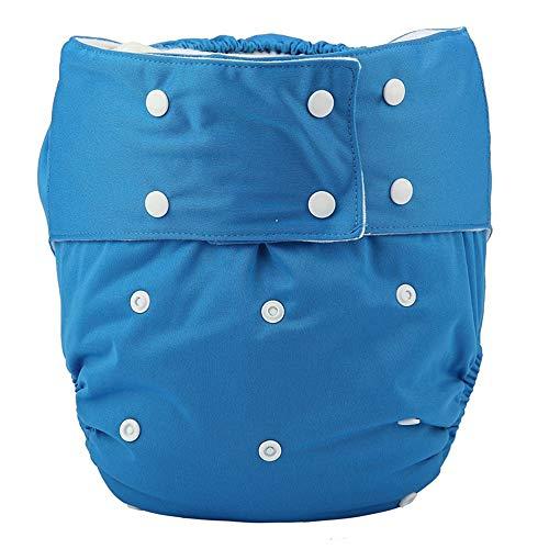 Pañal de tela para adulto reutilizable, lavable y ajustable, para personas con incontinencia