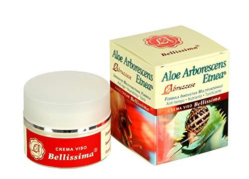Crema facial con extracto de baba de caracol 80% Aloe Arborescens y ácido hialurónico, 50 ml, biológica – Fabricado en Italia