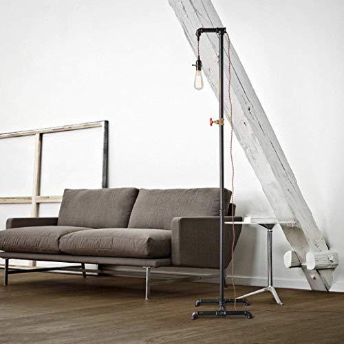 Home staande lamp, staande leeslamp, Loft Retro staande lamp, creatieve ijzeren woonkamer slaapkamer bedlampje waterleiding industrieel licht oogbescherming verticale tafellamp, B-D