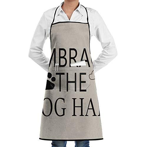 Delantal de chef con diseño de hueso, para mujeres y hombres, divertido delantal para barbacoa, delantal ajustable con bolsillos