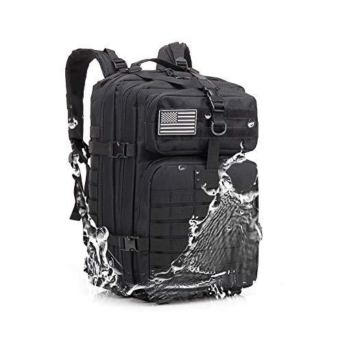 45L Militärischer Taktischer Rucksack,Kompakt Wasserdicht Tasche Rucksäcke Wanderrucksäck für Wandern Reisen Trekking Herren Damen Tarnung Reiserucksack