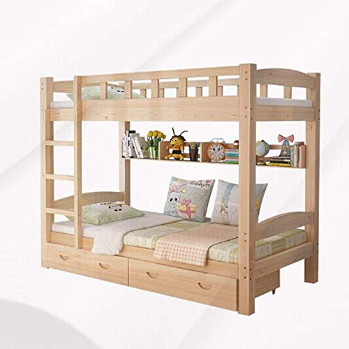 Bunk Bed Modern Simple Solid Wood Upper and Lower Bed Adult Upper and Lower Wooden Bed high and Low Bed Mother Bed Children Wooden Frame Bed