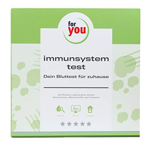 for you immunsystem-test I Selbsttest für zuhause I Mineralstoff Test + Aminosäuren + Vitamine I Defizite erkennen, auffüllen, Immunsystem stärken I Gesundheit & Abwehrkräfte testen
