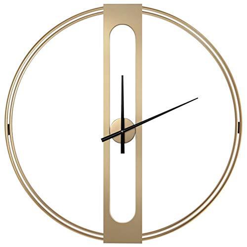 Wall Clock ontwerp reus, wandklok stijlvol en uniek stil ontwerp, ideaal voor woonkamers, keukens, Pubs, Lofts en cafés,Gold,70cm