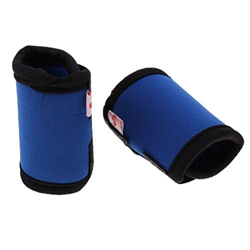 Hunde Kniebandage Gelenkschutz Bandage für Vorderbein oder Hinterbein, 2er / Set - Blau M