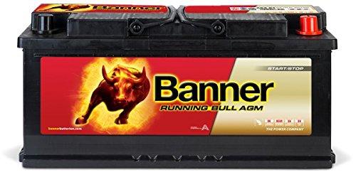 BannerRunning Bull - Puissante batterie voiture 105Ah