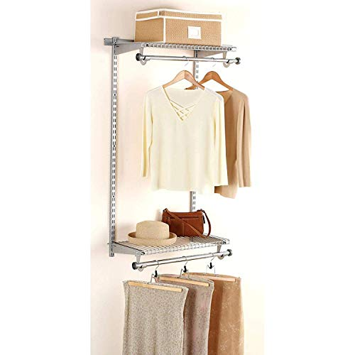 Rubbermaid Configurations Custom Add On Closet Shelving Closet Organizer Kit 48 Titanium