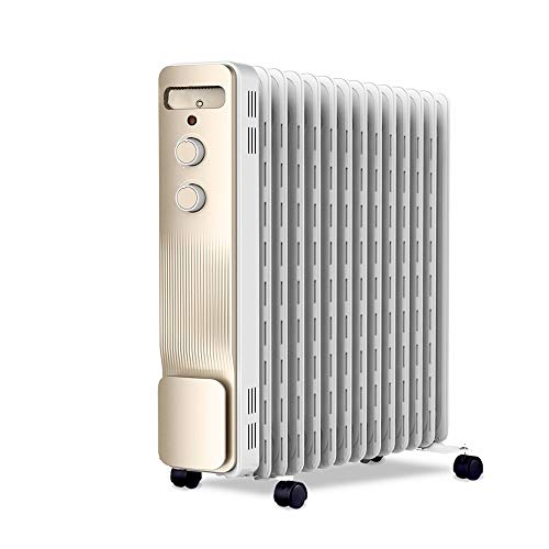 Great Price! Space Heaters Heater, electric oil heater space heater anti-scalding hollow heat sink, 2200W3 gear adjustment (#) (Size : 2200W)