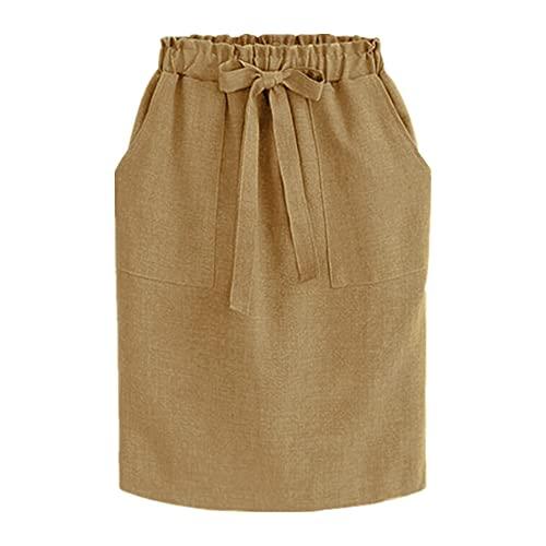 N\P Falda de lápiz profesional para mujer, cintura alta, gran bolsillo, pajarita, corbata