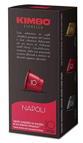 Kimbo Capsule Napoli Compatibili Nespresso - 12 Astucci da 10 Capsule (Totale 120 capsule)