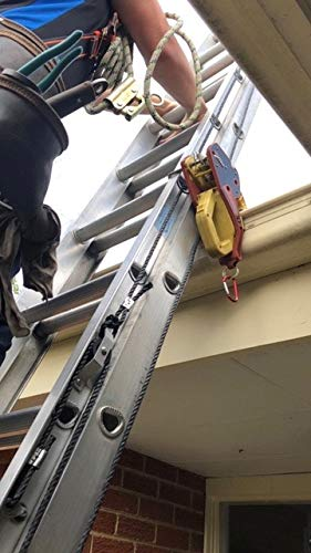 Lock Jaw Ladder Grip (1 unit), Fits on Gutters in 5 seconds, Slide Lock, Height Safety Device used by Swedish Fire and Rescue, Ladder Stabilizer, Ladder Gutter Clip, Protects Gutters