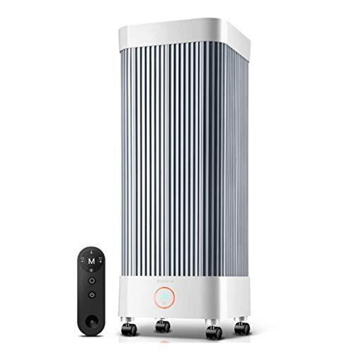 Qbylyf Calentador Portátil De Mesa con Control Horno Eléctrico De Calefacción, Control Remoto, Los Autónomos Uso, Ahorro De Energía Sin Luz Blanca De Energía: 550W / 2000W khfg