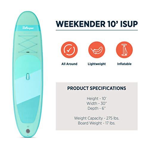 Retrospec Weekender 10' Inflatable Stand Up Paddleboard Bundle