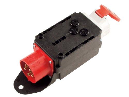 Bachmann 349.183 CEE-Adapter Stecker und 1xCEE Steckdose, Schwarz/Rot/weiss