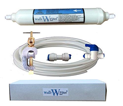 Kit de filtro, tubería, manguera para fontanería de frigorífico americano, compatible con Samsung, LG, Bosch, Daewoo, GE y todos los otros modelos