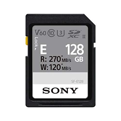 Sony Memoria SD-XC 128 GB Serie E, Lettura 270 MB/s, Scrittura 120 MB/s