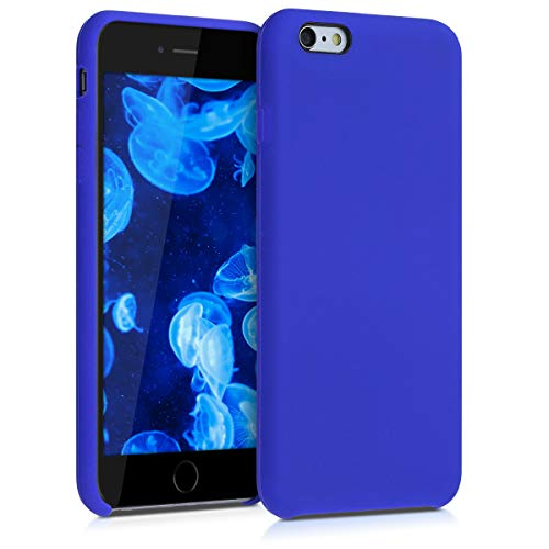 kwmobile Cover Compatibile con Apple iPhone 6 Plus / 6S Plus - Custodia in Silicone TPU - Back Case Protezione Cellulare Blu Elettrico