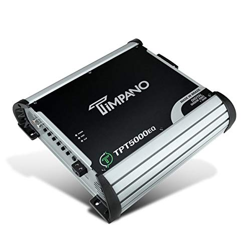 Timpano TPT5000EQ Compact Car Audio Amplifier - 5000 Watts at 1 Ohhm - Full Range Class D Small Sized Monoblock Amp with Built-in Equalizer