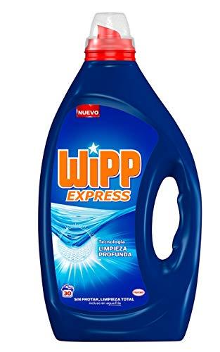 Wipp Express Detergente Líquido Azul, Negro, Estandar, 30 Lavados, 1.5 Litros