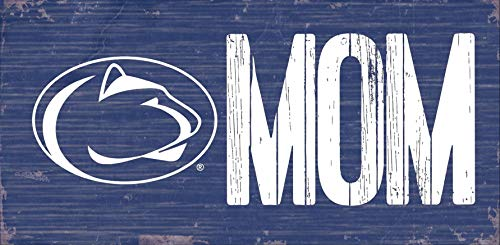 Fan Creations NCAA Penn State Nittany Lions Unisex Penn State University MOM Sign, Team Color, 6 x 12