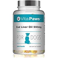 Aceite de Hígado de Bacalao 550mg para Perros - 180 Perlas - VitaPaws