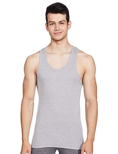 Macroman M Series Men's Cotton Vest (8903978238357_M111_Grey Melange_L)