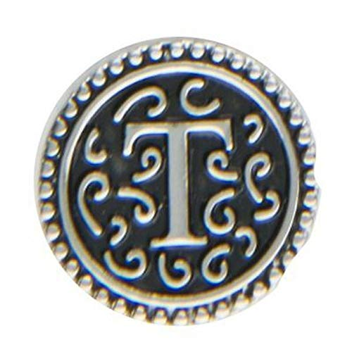 Ganz Jewel La La Snap Button for Jewelry, Initial T (ER33809)