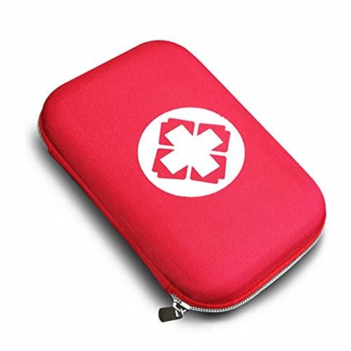 Wihgfcv Caja médica Emergencia Médico Supervivencia Tratamiento Caja de Rescate Kit de Primeros Auxilios Impermeable EVA Bolsa Persona Portátil Outdoor Travel Drug Pack Kits (Color : Black)