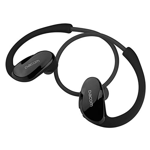 Dacom Athlete Bluetooth Headset for iPhone for Samsung Wireless Headphone Sports Stereo Earphone with HD Micro NFC Auriculares (Black)