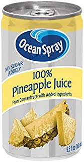 Ocean Spray 100% Pineapple Juice,  5.5 Ounce Mini Cans (Pack of 48)