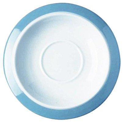 Alessi Tac2/79 Colorbavero Soucoupe Pour Tasse à Thé en Porcelaine Blanche Décorée, Set de 2 Pièces