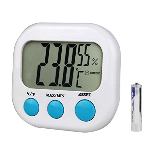 zhibeisai CX-202 Indoor Hygrometer Mini Digital Temperature Humidity Meter Gauge LCD Display Weather Station