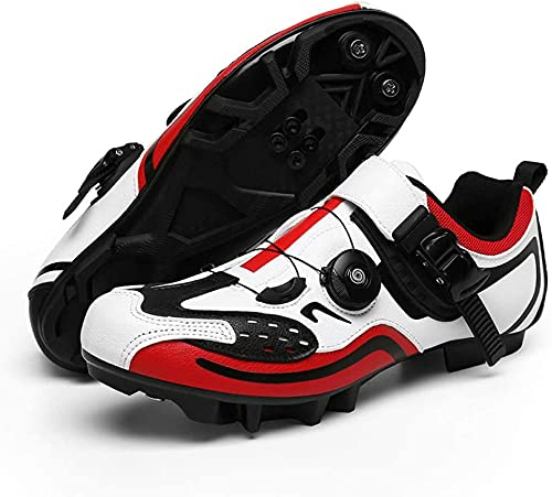 KUXUAN Zapatillas de Bicicleta de Montaña Bicicleta Bicicleta Sistema Antideslizante SPD Zapatillas de Ciclismo Hombres Adulto,A-36EU=(230mm)/4.5UK/5.5US