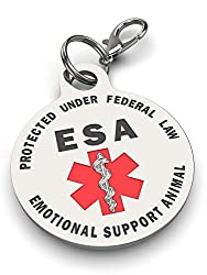 Service And Emotional Support Dog Tags