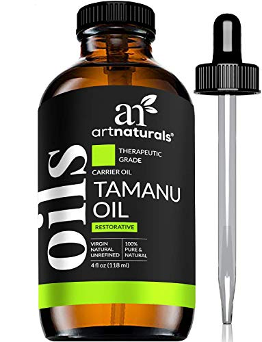 ArtNaturals 100% Pure Extra Virgin Tamanu Oil (4 Fl Oz / 120ml) Natural - Cold Pressed - for Skin, Face, Hair & Scalp – Relief for Acne, Scars, Stretch Marks Psoriasis & Eczema, Dry Skin & Blisters