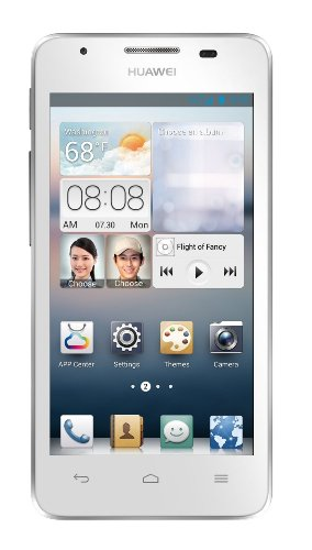 Huawei Ascend G510 - Smartphone libre Android (pantalla 4.5', cámara 5 Mp, 4 GB, Dual-Core 1.2 GHz, 512 MB RAM), blanco (importado)