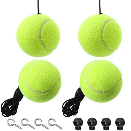 4 Sets Garage Parking Ball Parking Assist Parking Assistant Kit, Includes 4 Retracting Ball with Rope, 4 Adjustable Clip and 4 Hooks, Garage Car Stop Indicator for Vehicles