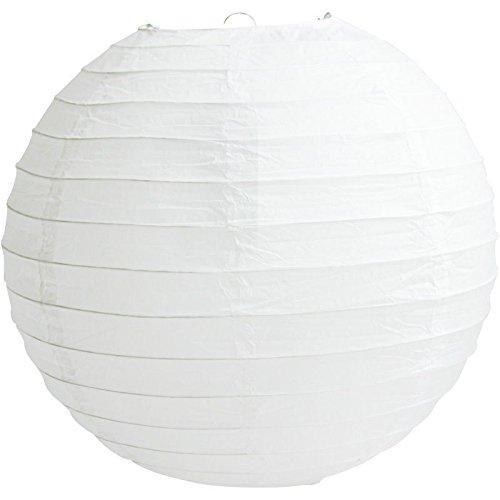 Matissa Papierlaternen, runder Lampenschirm, für Hochzeit, Geburtstag, 10/15/20/25/31/36/41 cm, Papier, White Lantern, 6