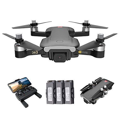 Funien MJX Drone, MJX Bugs 7 B7 RC Drone con cámara 4K 5G WiFi Motor sin escobillas GPS Posicionamiento de Flujo óptico Pista de Vuelo RC Quadcopter 3 baterías