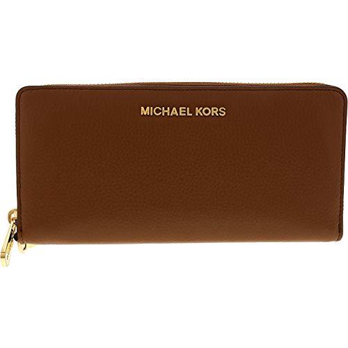 Michael Kors Travel Continental Brieftasche Geldbörse - Echtleder - Braun