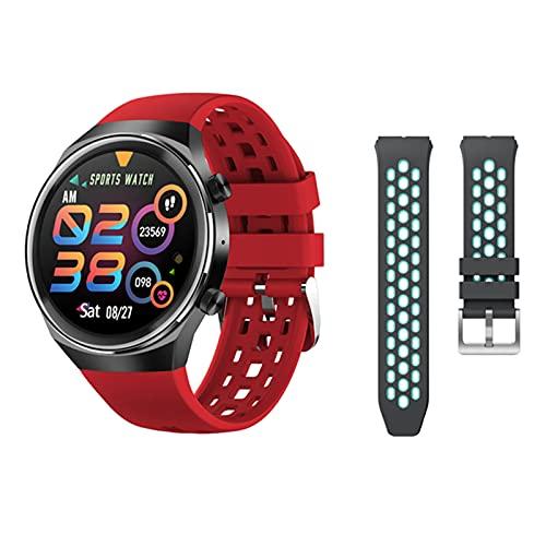 LHL Smart Watch, QW13 Presión Arterial para Hombres y Monitor de Ritmo cardíaco, Rastreador de Fitness Deportivo, 1.28'Dial de Bricolaje SmartWatch Bluetooth para Android iOS iPhone,E